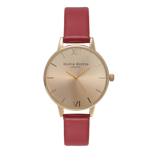 OB14MD31 MIDI DIAL RED AND GOLD RRP £65