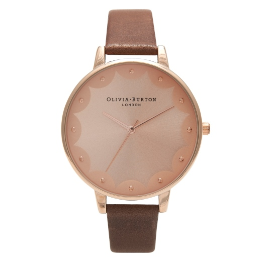 SELFRIDGES EXCLUSIVE - NOVEMBER LAUNCH.  �75 BROWN AND ROSE GOLD SCALLOP EDGE
